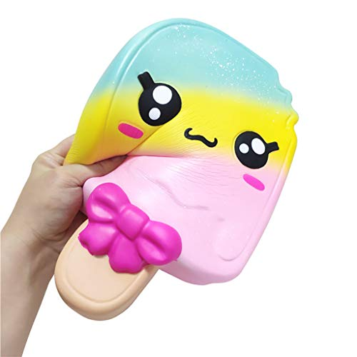 Gbell  Kids Kawaii Squeeze Toy, Exquisite Squishies Cartoon Ice Sucker Scented Slow Rising Stress Reliever Toy Easter Gifts Easter, Kids Party Favors ()