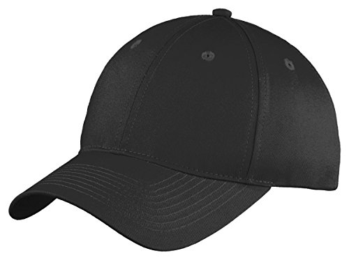 Port & Company Youth Six-Panel Unstructured Twill Cap>One size Black YC914