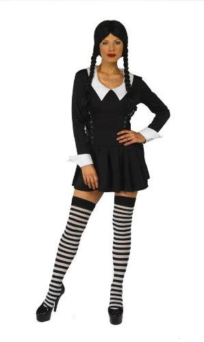 dal costo ragionevole 2019 prezzo all'ingrosso scegli genuino Mercoledì Addams in stile Costume di Halloween, taglia XL ...
