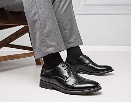 en Chaussures Hommes UE Casual Véritable Pointées Cuir Cuir XLF Britannique Chaussures d'affaires 42 Hommes Chaussures Costumes Jeunesse en Chaussures Adefg Mariage en Cuir De gH6Hw