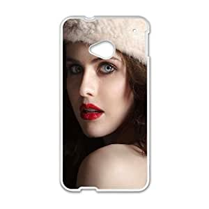 Celebrities Cute Alexandra Daddario HTC One M7 Cell Phone Case White DIY TOY xxy002_864187