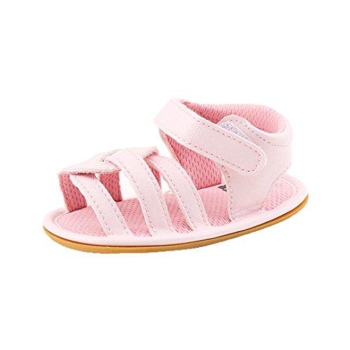 Babyschuhe Longra Baby krabbelschuhe Weiche Sohle Mädchen Babyschuhe Wanderer Fashion alleinige Kreuz Schritt Schuhe Sandalen Pink