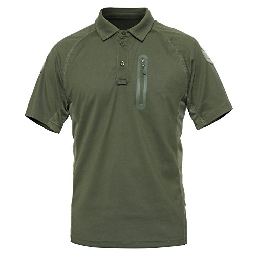 - MAGCOMSEN Mens Outdoor Lightweight Breathable Short Sleeve Combat Polo T-Shirt