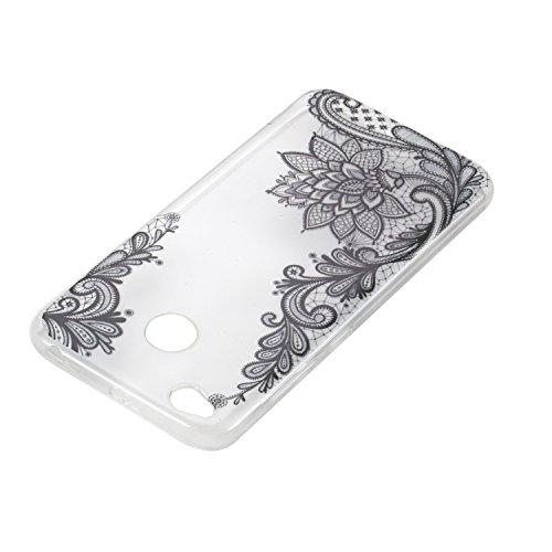 Funda Redmi 4X, CaseLover Carcasa Transparente Suave Silicona TPU para Xiaomi Redmi 4X Ultra Delgado Flexible Gel Protectora Cubierta Resistente a los Arañazos Tapa Ligero Caja Anti-Rasguños Espalda P Flor de encaje