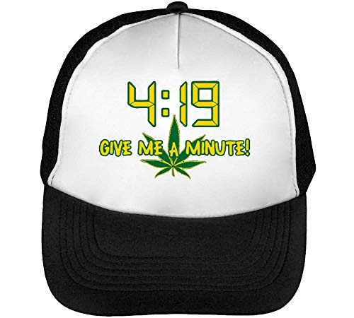 Give A Minute 420 Gorras Hombre Snapback Beisbol Negro Blanco