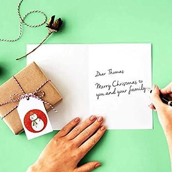 Amici e Colleghi. Cartoline di Natale,24 Biglietto Auguri Natale con Buste e Adesivi da Busta Cartolina di Natale per Salutare Familiari Regalo Natale Cartoline