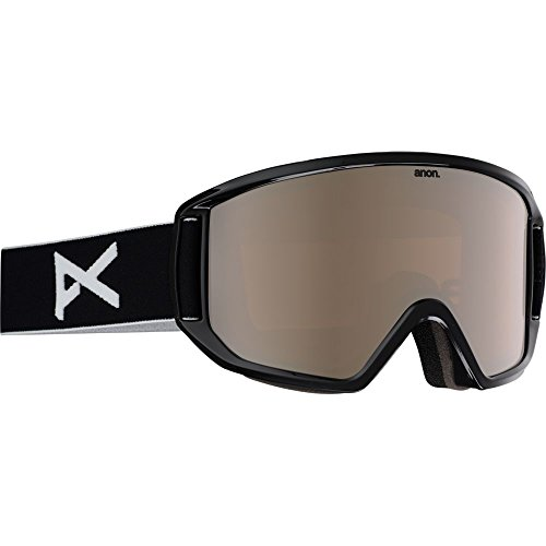 Anon Relapse Goggles, Black Frame, Silver Amber Lens, One - Goggle Anon