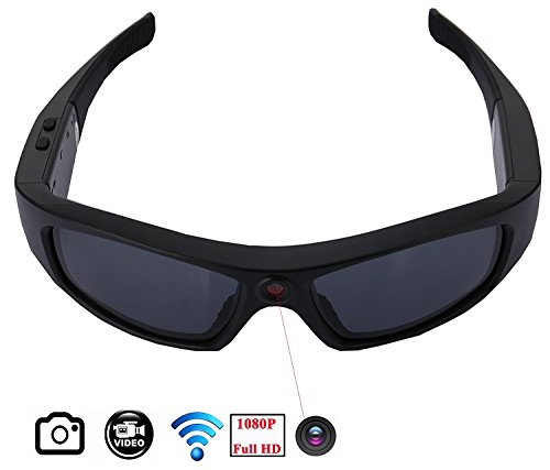 JOYCAM WIFI Sunglasses with Camera Full HD 1080P Video Recording Polarized UV400 Glasses Camcorder for Outdoor - Camcorder Sunglasses