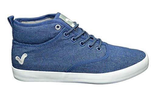 Zapatillas funda Voi Jeans para hombre elegante Hi Top Zapatos Gimnasio Walking bombas zapatillas calzado azul/gris