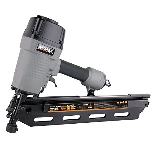 NuMax SFR2190 Pneumatic 21 Degree 3-1/2' Full Round Head Framing Nailer Ergonomic and Lightweight Nail Gun with Tool-Free Depth Adjust and No Mar Tip