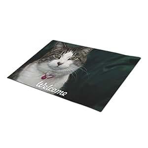 EUDDP Custom Doormat Animals Portrait Unique Doormats