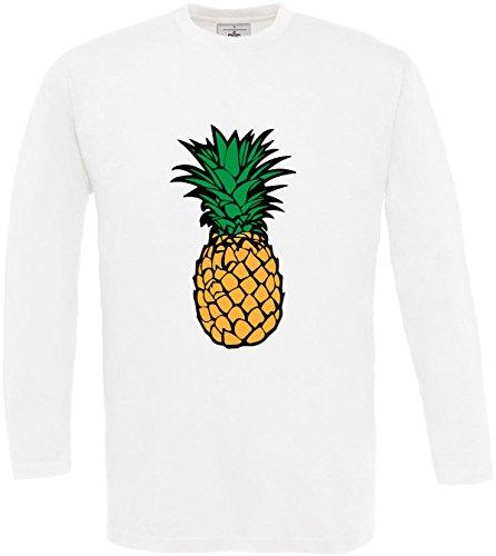 Fruit Multicolore Longues shirt T Cool Citation Imprimé Fun 3xl Texte Fruits Ananas À Designer White S Taille Homme Manches xzxqBfW