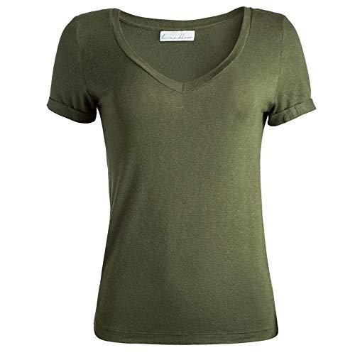 T-Shirt Oliva Linho