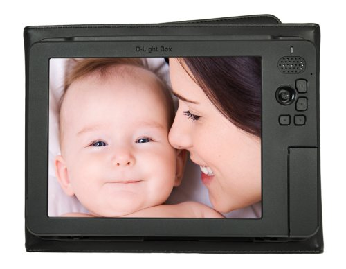 "Digital Foci 8"" - Portable Digital Photo Album/Frame Viewer with Battery and Portable - D-Light Box (DLB-081) (Black) by Digital Foci"
