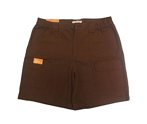 Toffee Brown Apparel - Savane Men's Comfort Hiking Cargo Shorts Toffee 38