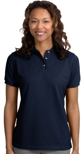 Knit Port Authority Shirt (Port Authority Ladies Pique Knit Sport Shirt, M, Navy)