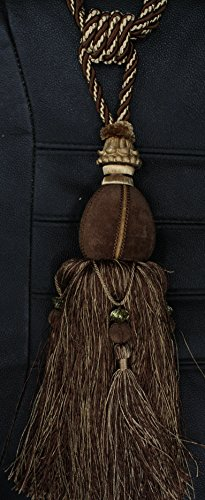 Decorative Designer's Extra Heavy Long Tie-back Backscurtains/drape Tassels Iperial Collection)) (Chocolate) (Back Tassel Tie Decorative)
