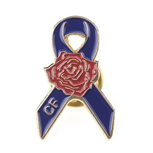 (Alice (Piece/25PCS) Cystic Fibrosis Awareness Lapel Pin,Safety Pins,1