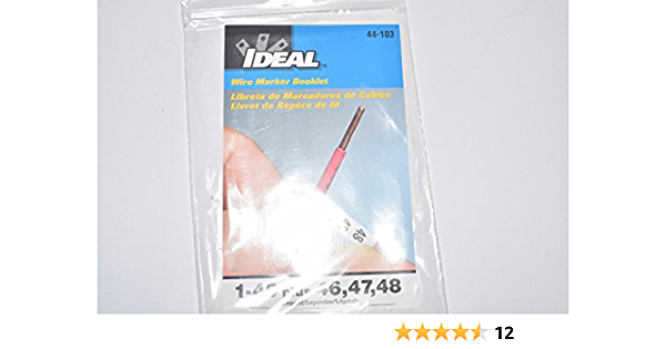 Ideal 44-101 Wire Marker Booklet Legend 45 each 0-9
