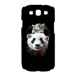 s3 9300 phone case White CAT ON PANDA UUA6213740