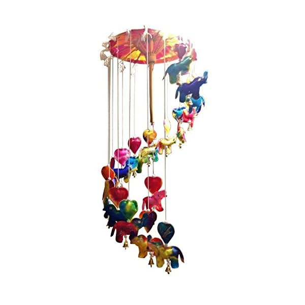 NAVA CHIANGMAI Baby Mobile Umbrella – Elephants Made of Mulberry paper Hanging Products from Thailand