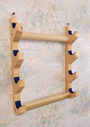 Native American Flute - Wall Rack - 4 flutes - handmade - solid wood - felt lined to protect flutes