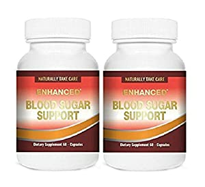 Blood Sugar Support Formula - Promotes Healthy Blood Glucose Levels, Supports Normal Cholesterol & Healthy Weight Loss Naturally. 20 Powerful Herbal Supplements | Pack of 2 | 120 Capsules |