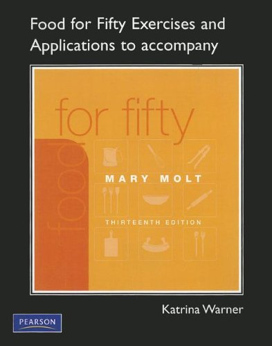 Exercises and Applications Workbook for Food For Fifty