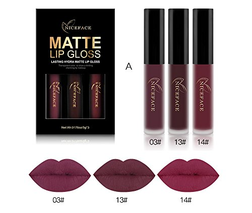 Halloween Makeup Set Liquid Lipstick Matte Long-Lasting Waterproof Lip Stick Lip Gloss Cosmetics ()