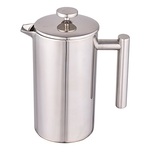 Giantex Stainless Steel French Press Coffee Maker Double-Wall 304 Grade Stainless Steel Espresso Tea Maker, 1 Liter, 34 OZ by Giantex