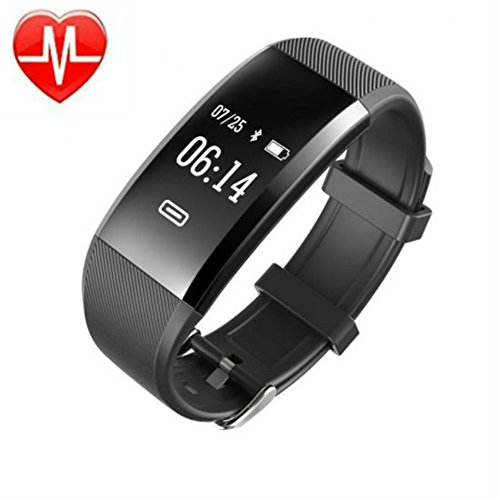 Enshey Fitness Tracker- New Black Smart Watch With Blood Pressure Heart Rate Sleep Pedomete Blood Oxygen Monitor SPO2 Smart Wristband Bracelet For Bluetooth Andriod And Ios by Enshey