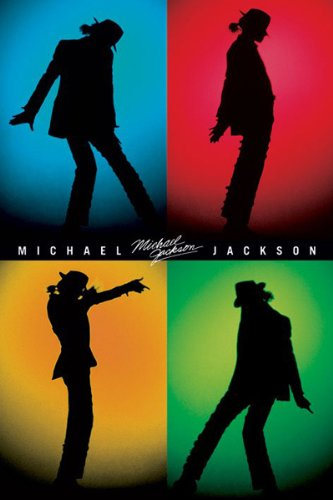 Michael Jackson-Silhouettes, Music Poster Print