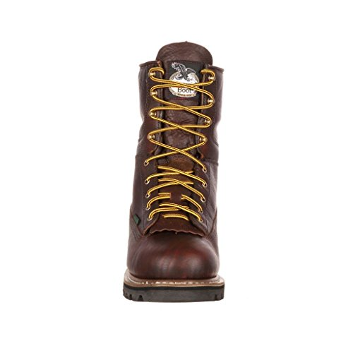 Boot Toe Georgia Lace Work Boot Chocolate Men's to 8