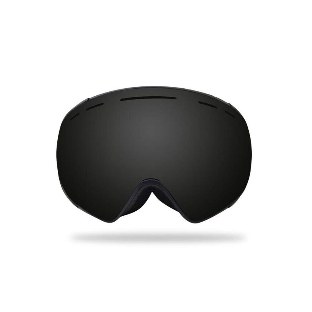 He-yanjing Ski Goggles Winter Snow Sports Snowboard Goggles ,Youth Boys Girls , Anti-Fog Snowboard Goggles, (Color : Black) by He-yanjing