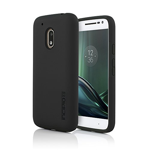 Motorola Moto G Play Case, Incipio [Hard Shell] [Dual Layer] DualPro Case for Motorola Moto G Play-Black/Black
