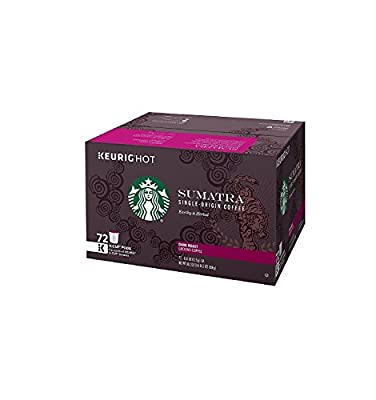 Starbucks Sumatra Blend Coffee K Cup 72 Count
