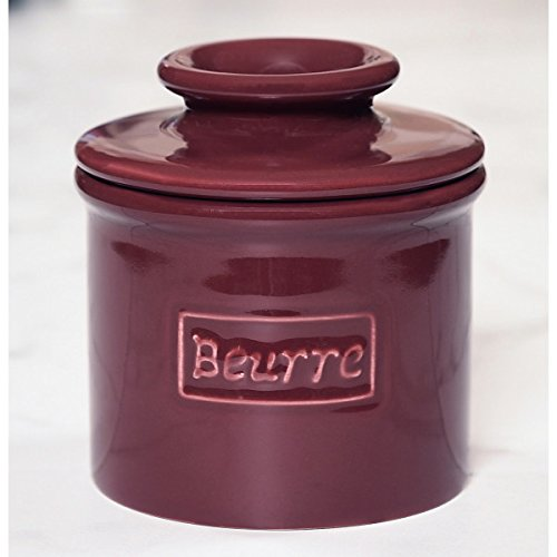 The Original Butter Bell Crock by L. Tremain, Cafe Collection Crimson