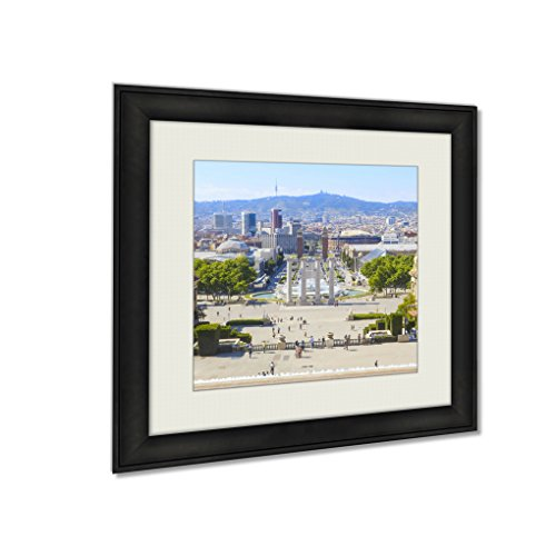 Ashley Framed Prints Magic Fountain In Plaza Espana, Wall Art Home Decor, Color, 26x26 (frame size), AG6290272 by Ashley Framed Prints