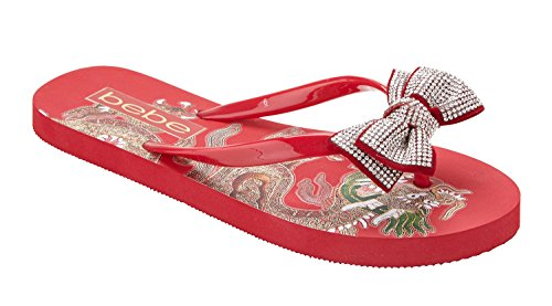 Addie Bebe Red Flip Flop Women's HAB8qT