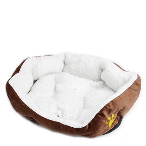 Delight eShop Puppy Pet Dog Cat Fleece Cozy Warm Bed Flannel Soft Cotten House Nest Mat Pad