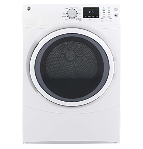 Price comparison product image GE GFEN160GJWW 7.5 Cu. Ft. Front Load Gas Dryer with 10 Cycles and Reversible Door,  White