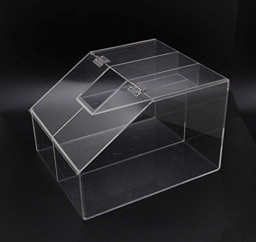FixtureDisplays 2.5 Gallon Acrylic Candy Bin, 2 Compartments, Scoop Holder 19491-NF