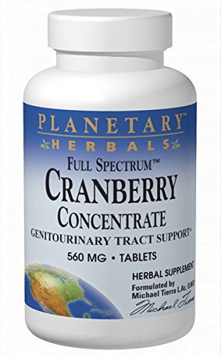 Planetary Herbals Full Spectrum Cranberry Concentrate 560 mg Tabs, 90 ct