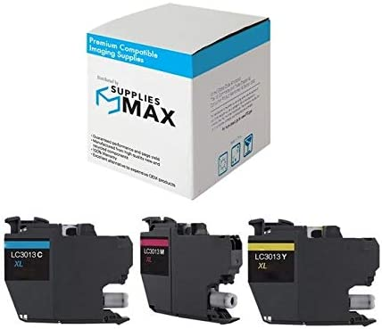 C//M//Y SuppliesMAX Compatible Replacement for Brother DCP-J572//J772//J774//MFC-J491//J497//J690//J890//J895DW High Yield Inkjet Combo Pack LC-3011XL3PKS