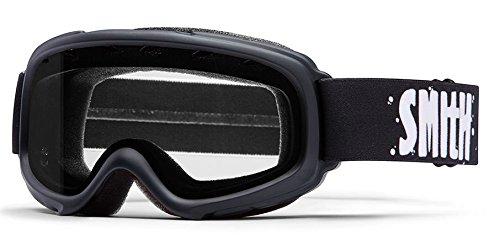 Jr Ski Goggle - Smith Optics Gambler Kids Junior Series Ski Snowmobile Goggles Eyewear - Black/Clear / Small/Medium