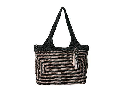 (The Sak Women's Casual Classics Large Tote Black/Shitake Stripe One Size)