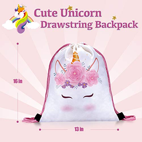 LittleBoo Unicorn Gift Set - Unicorn Squishy, Unicorn Slime, Unicorn Drawstring Backpack, Unicorn Card - Unicorn Gifts for Girls (Cream Cake Unicorn Squishy) by LittleBoo (Image #4)