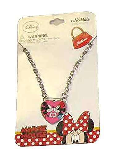 [Disney Girls Mickey and Minnie Mouse Kiss Dress Up Jewelry - Chain Necklace] (Daisy Duck Costumes For Toddlers)