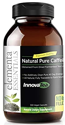 Green Tea Caffeine Pills | Energy, Alertness, Focus on Work and Study | Supports Energy Levels, Calorie Free Energy Ultra Pure, Vegan Friendly | Bulk-Sized Bottle 300 Capsules, 150mg