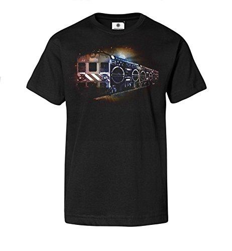 Bedrucktes Herren Streetwear T-Shirt mit Motiv Ghettoblaster Train
